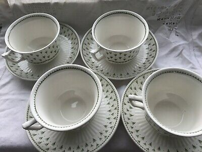 Adams Meadowlands Cups And Saucers - Four Of Each • 16£