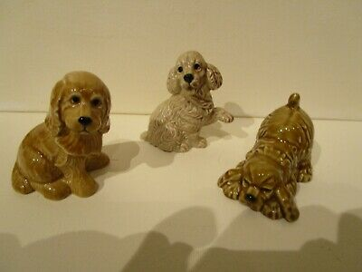 Wade Collection Of 3 Spaniel Dog  Figures • 16£
