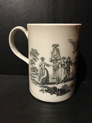 First Period Worcester Tankard With Robert Hancock Prints • 22.18£