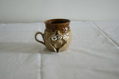 Pretty Ugly Pottery Mug With Face Handmade In Wales Glazed Stoneware • 3.50£