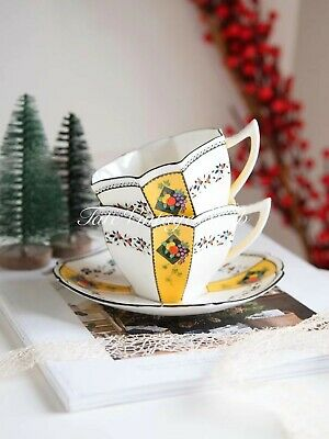 Art Deco SHELLEY Queen Anne Shape Duo (1 Cup And Saucer)  • 195£