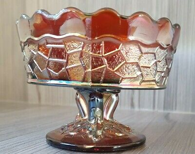 Vintage Carnival Glass Bowl / Dish    Collectable Pressed Glass • 9.99£