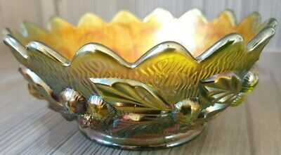 Vintage Carnival Glass Bowl    NORTHWOOD Collectable Pressed Glass • 6.50£