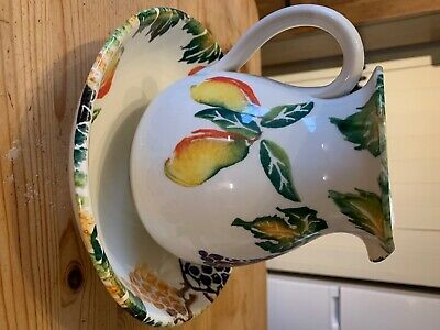 BHS Jug And Pasta Bowl - Hand Painted In Italy • 9£