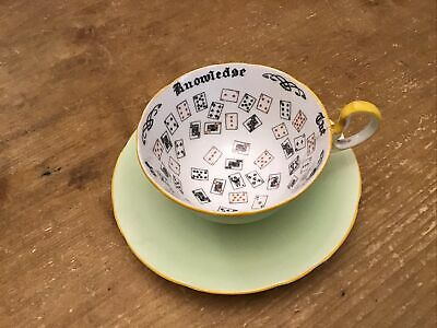 Aynsley - The Cup Of Knowledge - Cup & Saucer - Deck Of Cards • 4.99£