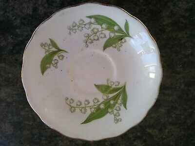 Royal Vale Bone China Saucer - Snowdrops Pattern • 1.20£