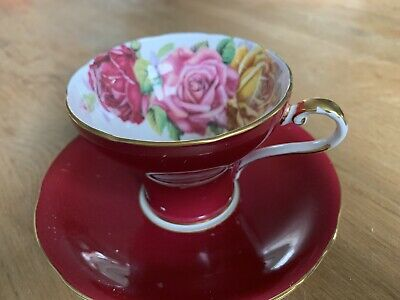 Aynsley Pottery Pretty Bone China Tea Cup And Saucer  • 15£