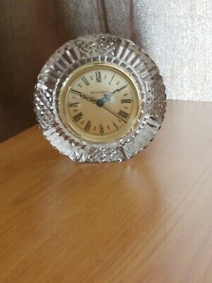 Tyrone Crystal  DRUMREAGH  Clock  - Stamped - Ex Cond • 8.99£