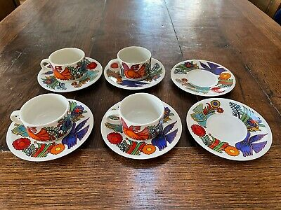 Villeroy Boch Acapulco 4 Cups And 6 Saucers • 11.20£