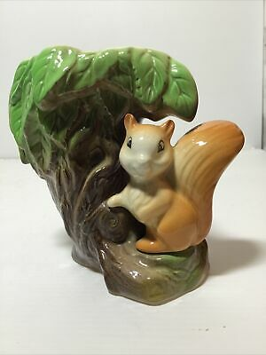 Vintage Withernsea Eastgate Pottery Fauna Vase  (26) Featuring A Red Squirrel • 6£