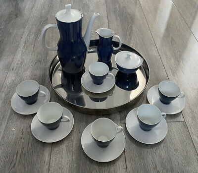 Vintage Thomas Germany Blue Porcelain Coffee Set  • 20£