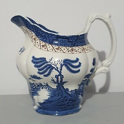 Vintage Booths Pottery Real Old Willow Milk Jug  Patt. No. A8025. • 14£