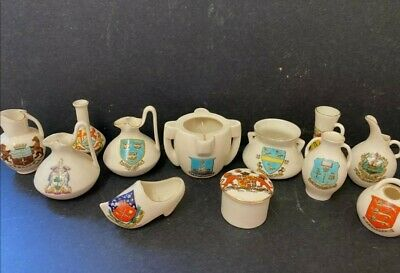 Antique Crested Ware 10 Pieces Goss And 2 Other All Very Good Condition • 0.99£