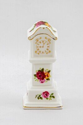 """Cottage Rose - Grandfather Clock"" Fine Bone China 4.5 Tall Excellent Condition  • 4.50£"