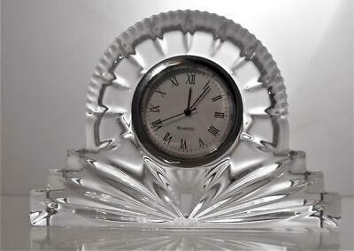 Vintage Galway Lead Crystal Cut Glass Clock Signed Perfect Present No Box • 14.99£