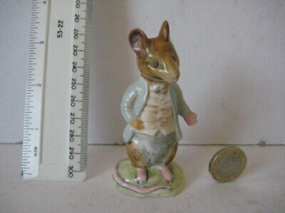 Vintage Beswick England Beatrix Potter Figurine Johnny Town Mouse  Gold Stamp • 44.99£