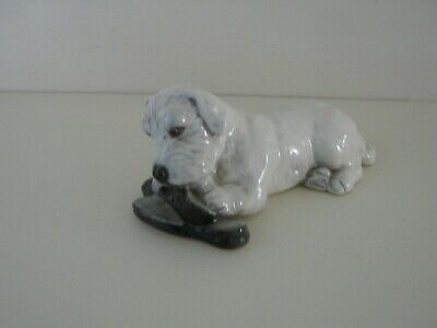 Vintage Sealyham Dog Figurine Modelled By Branksome China • 12.99£