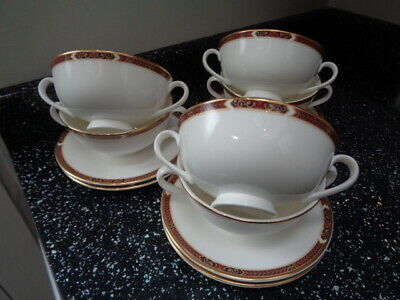 Marks And Spencer Connaught Soup Coupes And Saucers X 6 • 75£