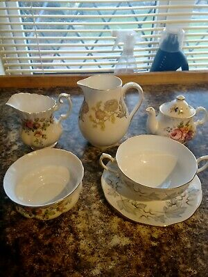 Job Lot Various Royal Albert Moss Rose / Silver Maple All Very Good Condition. • 10£