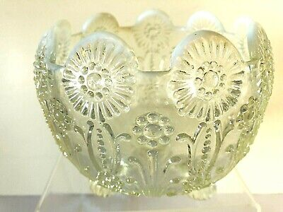 Ornate Victorian Opalescent Footed Glass Bowl  • 19£