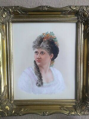 Antique Kpm Style Hand Painted Framed Plaque • 269£