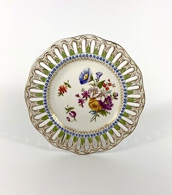 Meissen Porcelain Reticulated Plate, C. 1860 • 16£