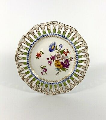 Meissen Porcelain Reticulated Plate, C. 1860 • 21£