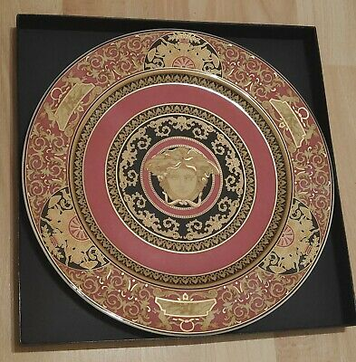 Rosenthal Versace Medusa Ikarus Red Collectors Plate 31cm Boxed • 130£
