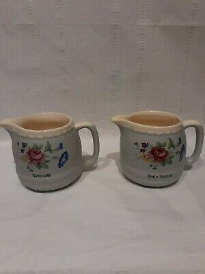 VINTAGE BUCKFAST DEVON POTTERY , HOLY ISLAND AND LYNMOUTH JUGS -Pre Owned • 7£