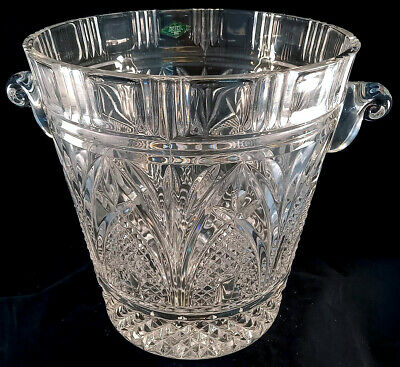 Shannon Champagne 24% Lead Crystal Ice Bucket - Large Heavy Design Of Ireland • 49£