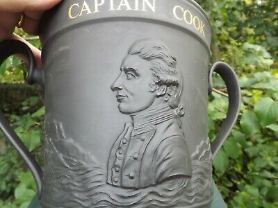 Large Royal Doulton Captain Cook Bicentenary 1770 1970 Basalt Loving Cup 8.25''  • 125£