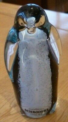 Schroders Hand Blown Glass Penguin From NZ • 2.50£