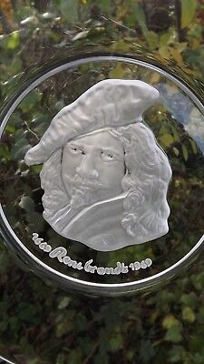 Vintage Val St Lambert 1969 Rembrandt 25cm Plate Signed Crystal With Certificate • 45£