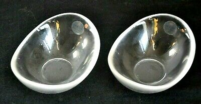 Holmegaard Glass Pearline Dishes With Label (2) 1980s • 12.95£