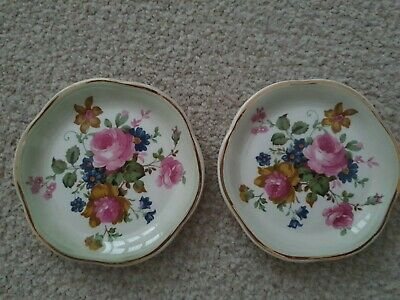 The Royal Worcester Company  Palissy Trinket Dishes X2 • 9.99£