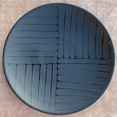Poole Pottery VOGUE Large 40cm/16  Black Charger/Platter/Dish/Plate Wall Hanging • 37.50£