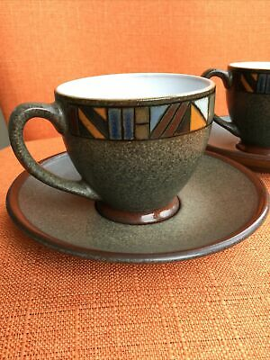 Denby Marrakesh Espresso Cup And Saucer X 2, First Quality • 19.95£
