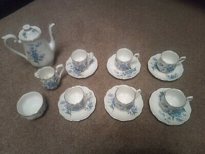 Royal Albert Forget Me Not Coffee Set - 15 Pieces • 30£