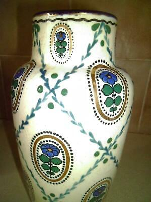 Ernst Wahliss Turn Royal Vienna Austria Large Pottery Vase C1899 - 1918 • 25£