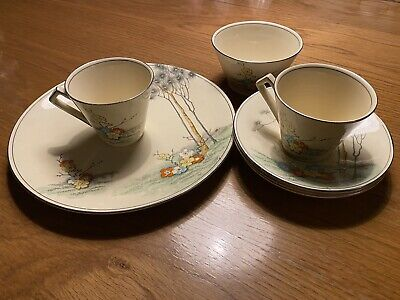 1930's Royal Winton Grimwades 2 Cups, 3saucer's And 1 Plate,Sugar Bowl • 14£