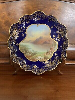 Aynsley Victorian Hand Painted Plate Loch Lyndon • 59.99£