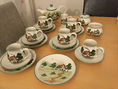 Bovey Pottery,Dartmoor Ware,tea Set Hand Painted • 25£