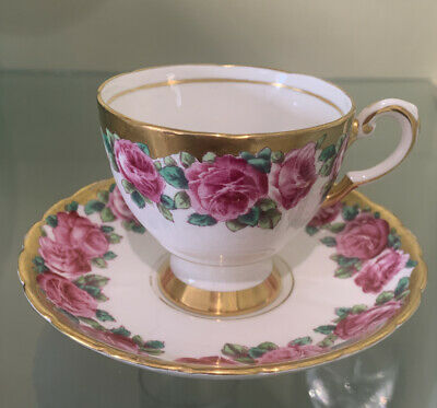 Tuscan Fine English Bone China Flowers Cup And Saucer • 9.99£