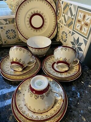 Vintage Grafton China Tea Set For Three With Cake Plate  • 4.90£