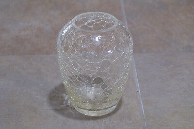 Vintage Crackle Glass Vase Glassware Clear Folk Art Shabby Chic Decor Flower Bud • 21.06£