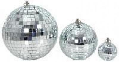 QTX 151.582 Glass 15cm Diameter Club Disco Mirror Ball Glittering Effect Display • 9.29£