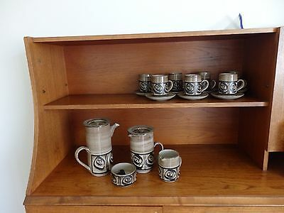 Tea Coffee Set Vintage Wellhouse Pottery Scandinavian Style Retro Cups Pots Milk • 49£