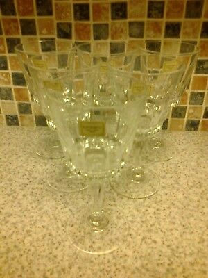 Luminarc France Verrerie D`arques 6 X Wine Glasses Clear Stemmed New • 4.99£