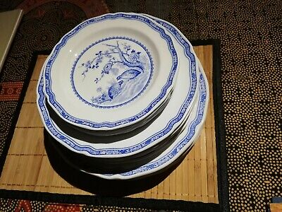 Furnivals Blue Quail 28 Piece Dinner Service 6settings 3 Platters Gravyboat 1913 • 300£