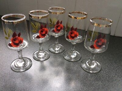 Vintage Stem Sherry/port Glasses • 10£